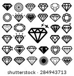 diamond icons set. vector... | Shutterstock .eps vector #284943713