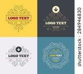 vintage flourishes calligraphic.... | Shutterstock .eps vector #284946830