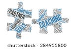 set of coaching   teaching word ... | Shutterstock .eps vector #284955800