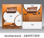 bakery flyer and magazine... | Shutterstock .eps vector #284957309