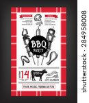 barbecue party invitation. bbq... | Shutterstock .eps vector #284958008