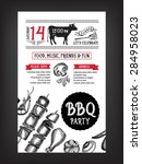 barbecue party invitation. bbq... | Shutterstock .eps vector #284958023