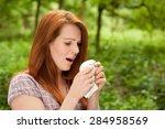 woman is sneezing | Shutterstock . vector #284958569