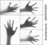 Collage Of Hands Silhouettes...