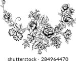 line of a large bouquet  vector ... | Shutterstock .eps vector #284964470