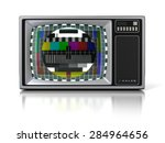 80s vintage portable television ... | Shutterstock . vector #284964656