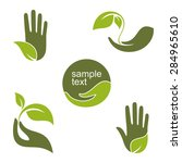 set of emblems and labels with... | Shutterstock .eps vector #284965610