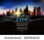 vector background with urban... | Shutterstock .eps vector #284966024
