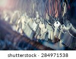 selective  focus of many... | Shutterstock . vector #284971538
