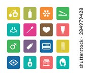 beauty salon icons universal... | Shutterstock . vector #284979428