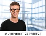 men  portrait  smiling. | Shutterstock . vector #284985524