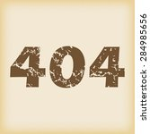 grungy brown icon with text 404 ...