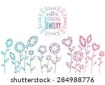 jewels gemstones flowers hand...   Shutterstock .eps vector #284988776