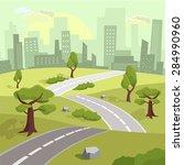 landscape. vector flat... | Shutterstock .eps vector #284990960