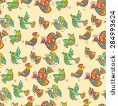 vintage pattern with  seamless... | Shutterstock .eps vector #284993624
