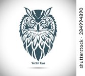 owl in the ornamental style.