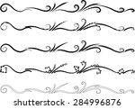 calligraphic decorative... | Shutterstock .eps vector #284996876