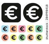 euro symbol. eu currency icon.... | Shutterstock .eps vector #284998418