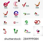 set of new universal company... | Shutterstock .eps vector #284999084