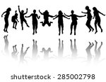 group of black children... | Shutterstock .eps vector #285002798