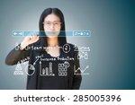 business woman    Shutterstock . vector #285005396