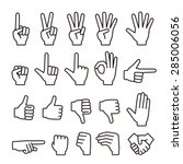 hand icons | Shutterstock .eps vector #285006056