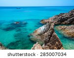 rocks by the sea southern... | Shutterstock . vector #285007034