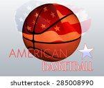 american basketball poster | Shutterstock . vector #285008990