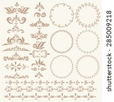 set of vector decorative... | Shutterstock .eps vector #285009218