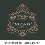 wedding card luxury template... | Shutterstock .eps vector #285010784