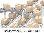 distribution. industrial roller ... | Shutterstock . vector #285013430