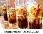 cold soda iced drink in a... | Shutterstock . vector #285017030