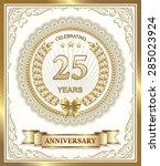 anniversary card 25 years | Shutterstock .eps vector #285023924