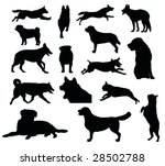 Various Dog Silhouettes  ...