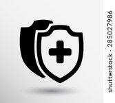 vector medical shield icon... | Shutterstock .eps vector #285027986