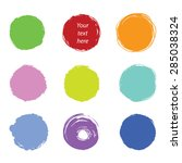 grunge paint circle vector... | Shutterstock .eps vector #285038324