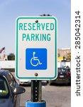 Reserved Parking Or Handicappe...