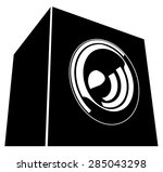 sound system speaker... | Shutterstock .eps vector #285043298