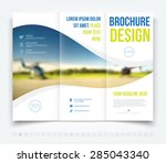 vector modern tri fold brochure ... | Shutterstock .eps vector #285043340