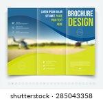 vector modern tri fold brochure ... | Shutterstock .eps vector #285043358