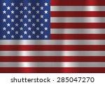 american flag flowing  waving ... | Shutterstock .eps vector #285047270