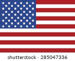vector image of american flag | Shutterstock .eps vector #285047336