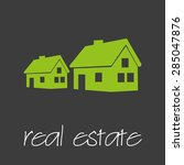 real estate commercial design...   Shutterstock .eps vector #285047876