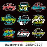 set of sport badges  surfing ... | Shutterstock .eps vector #285047924