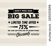 "vector ""big sale"" poster with... 