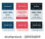 wedding  engagement  shower... | Shutterstock .eps vector #285056849
