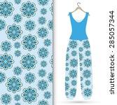 vector fashion illustration ... | Shutterstock .eps vector #285057344