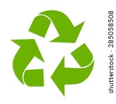 triangular recycling symbol.... | Shutterstock .eps vector #285058508