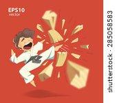 Cartoon Character Karate Kid...