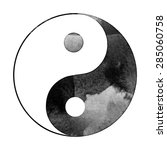 Watercolor Yin Yang Symbol  ...